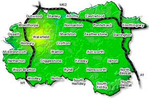 Wakefield Area Map